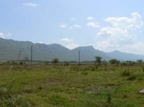 Facing east, beyond these hills is the Great Rift Valley